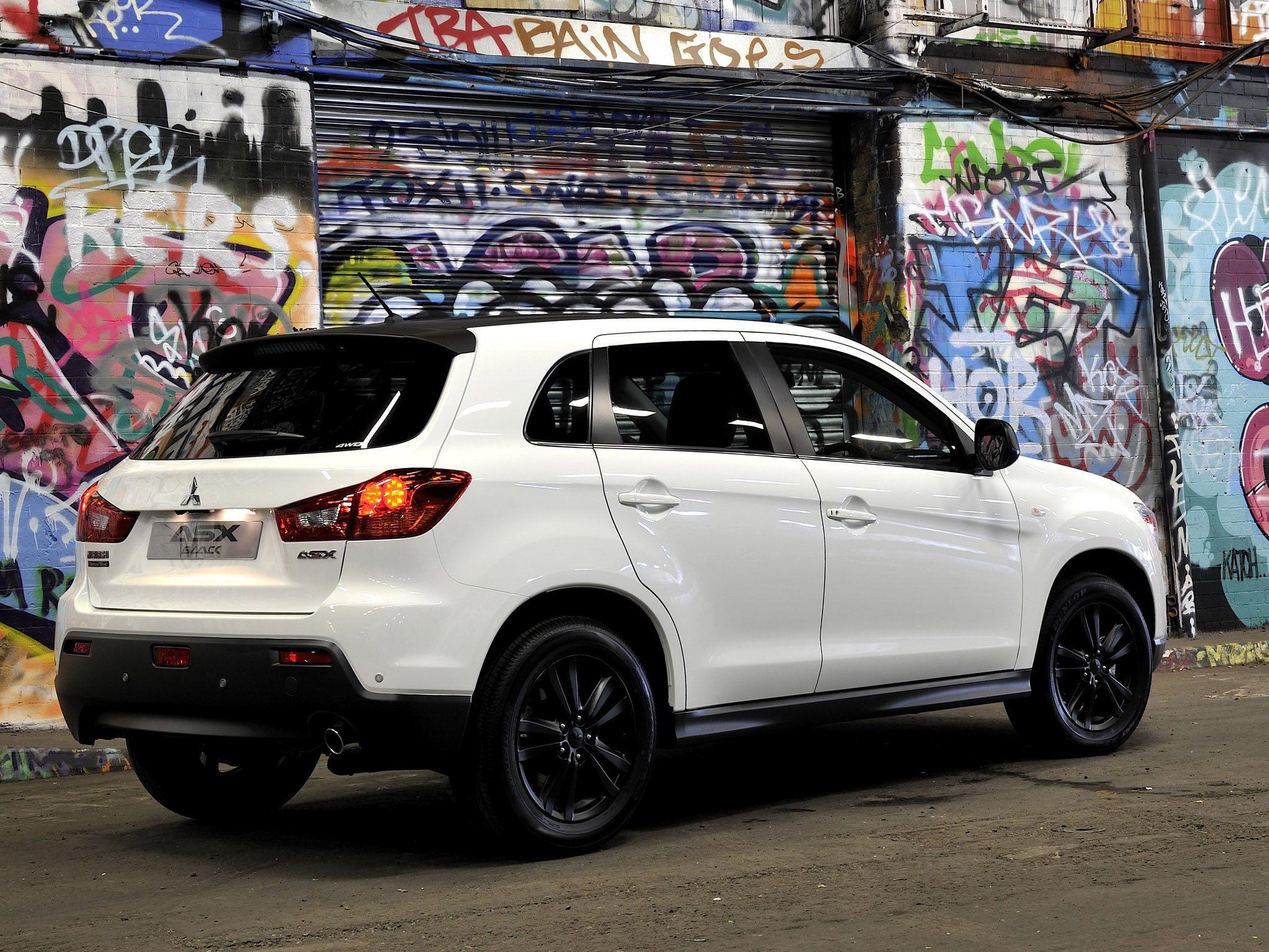White Rvr Black Wheels Black Wheels Mitsubishi Car