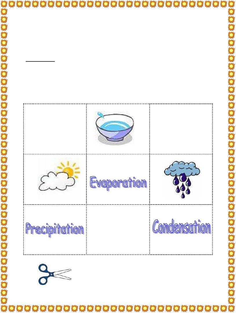 3rd Grade   Water Cycle Worksheet   Water cycle worksheet [ 1079 x 814 Pixel ]