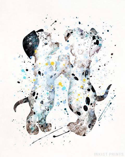 Photo of 101 Dalmatiner Disney Aquarell Wandkunst Poster – Preise ab 9,95 € – Click Pho…