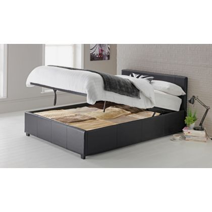 premium selection b9301 0bbe3 Hygena Montgomery Ottoman Small Double Bed Frame - Black. at ...
