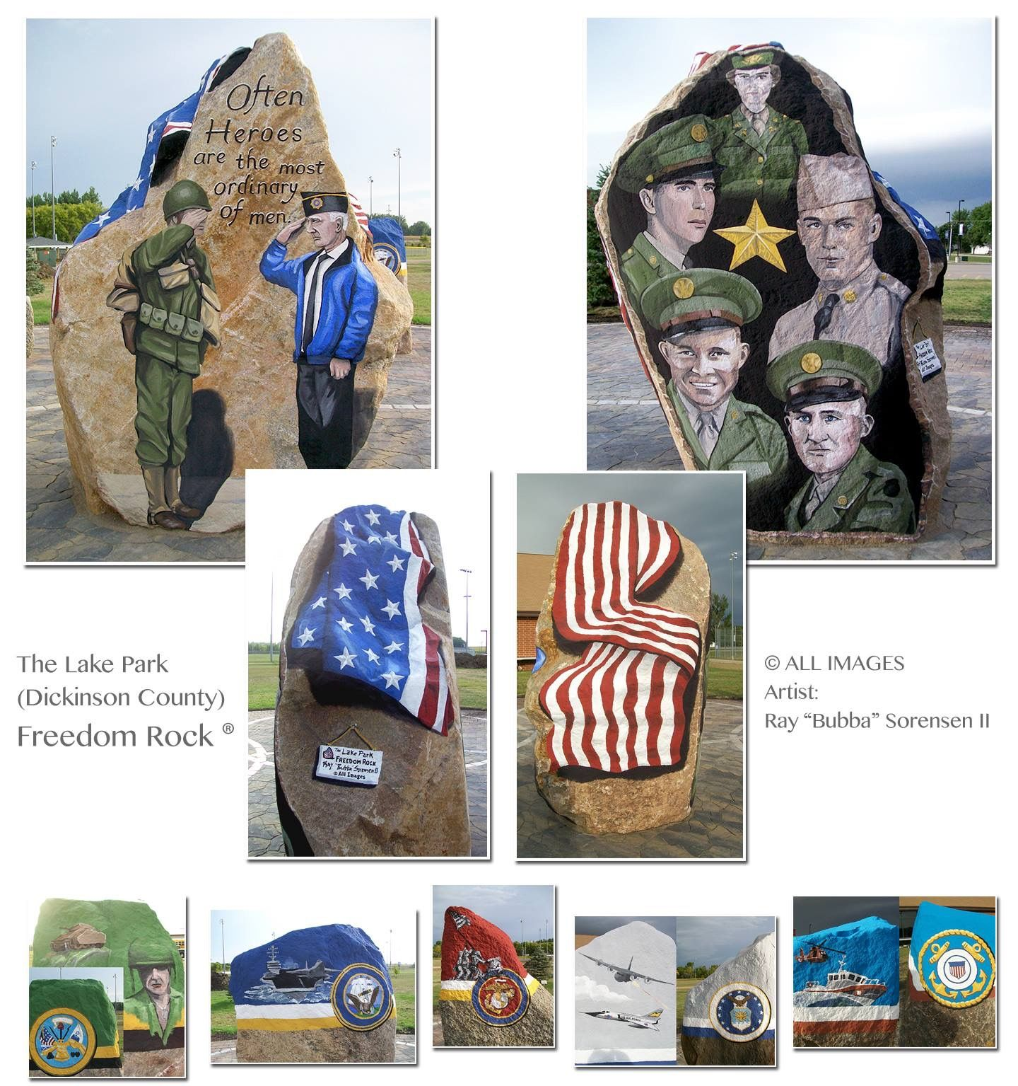Pin By Debra Williams On Freedom Rocks Painted By Ray Bubba Sorensen Being Painted In Iowa A Different One In Each 99 Counties Rock Freedom Lake Park