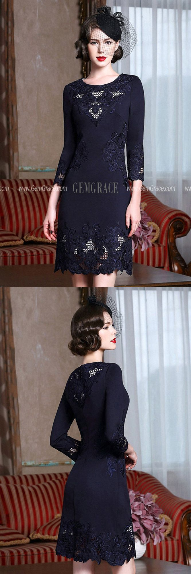 Highend Embroidery Long Sleeve Party Dress For Women Over