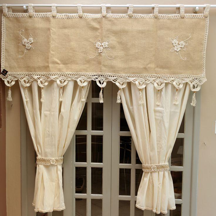lapwerk gordijnen gordijnen naaien gehaakte gordijnen doe het zelf gordijnen gordijn valletjes gordijn splitser raambekleding jute creatief handwerk