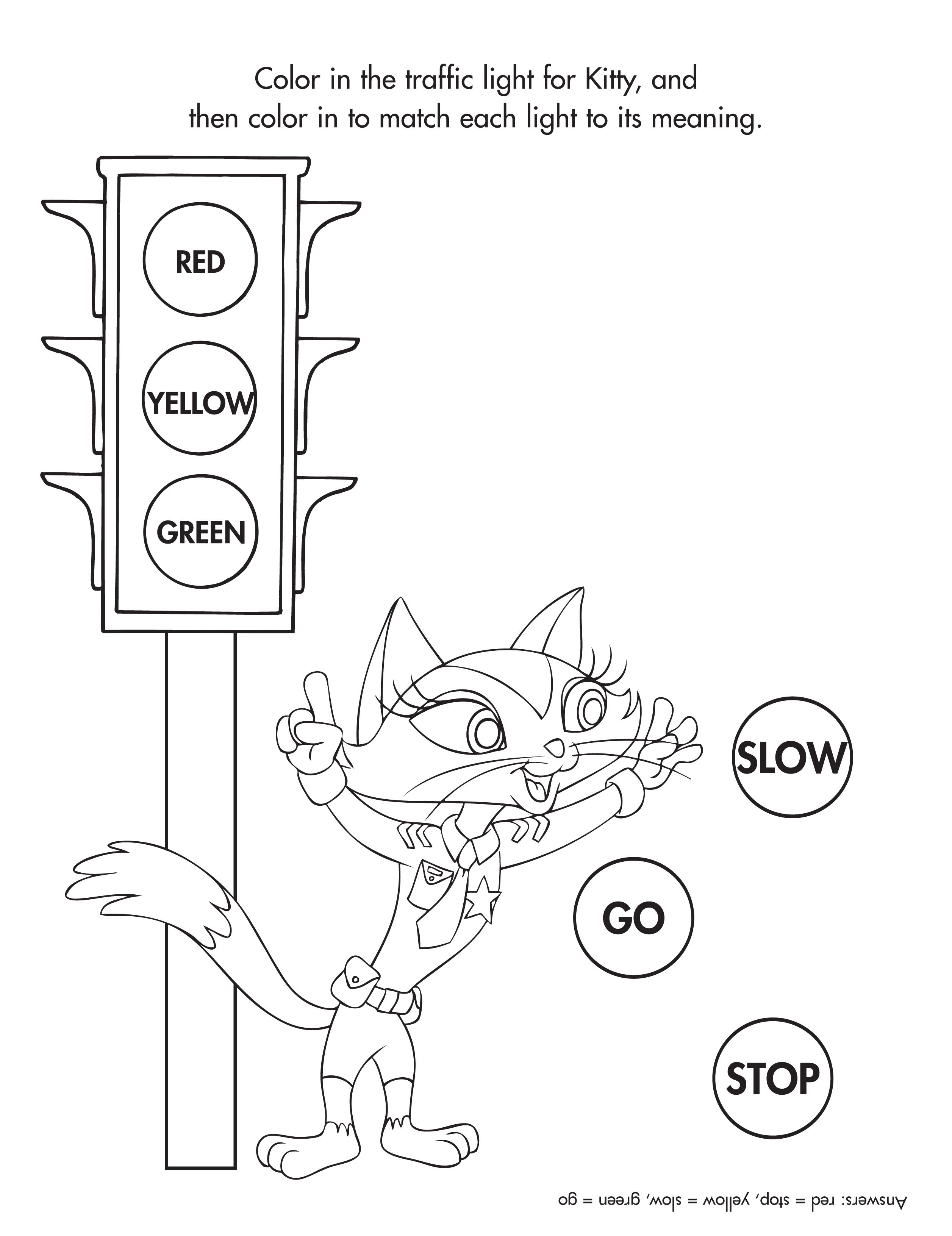 Traffic Light Coloring Sheet Garrett Man Picture