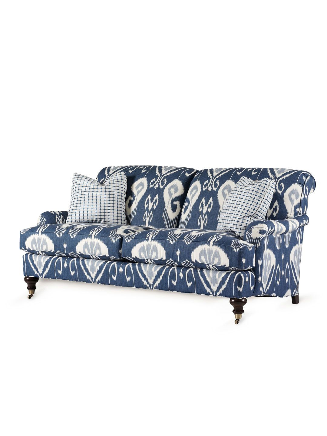 By Design Blue Ikat Sofa