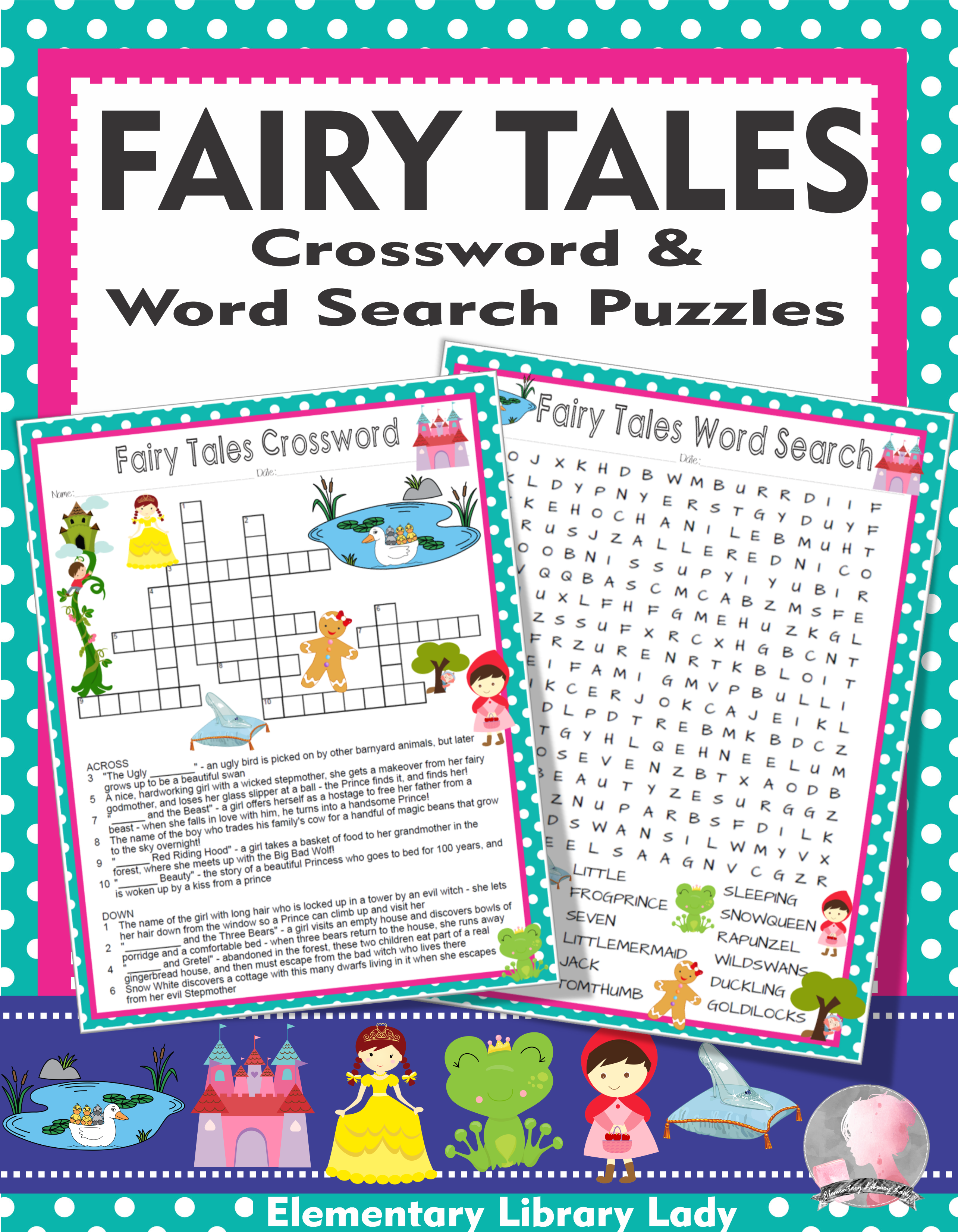 Fairy Tales Activities Crossword Puzzle Amp Word Search Find