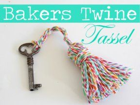 For The Love Of Baker S Twine Twine Crafts Diy Tassel Twine
