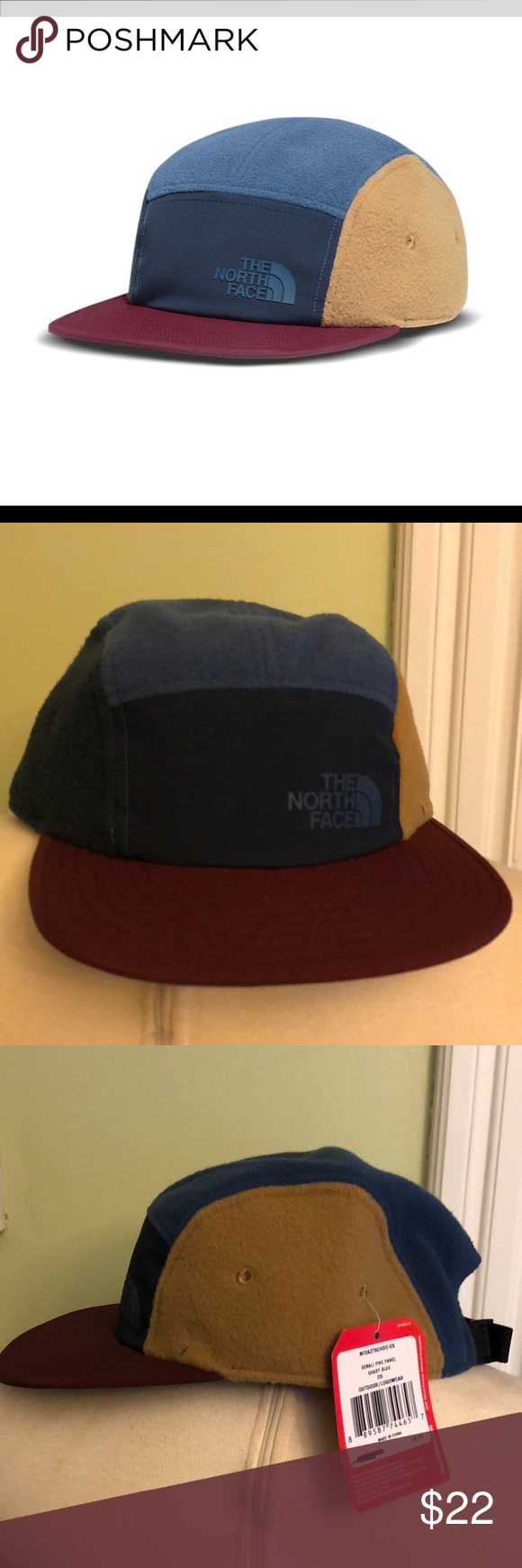 3f77aec535a The North Face Denali Five Panel Hiking Hat Cap New With Tags The North  Face Denali Five Panel Fleece Hat Color- Shady Blue Adjustable The North  Face ...