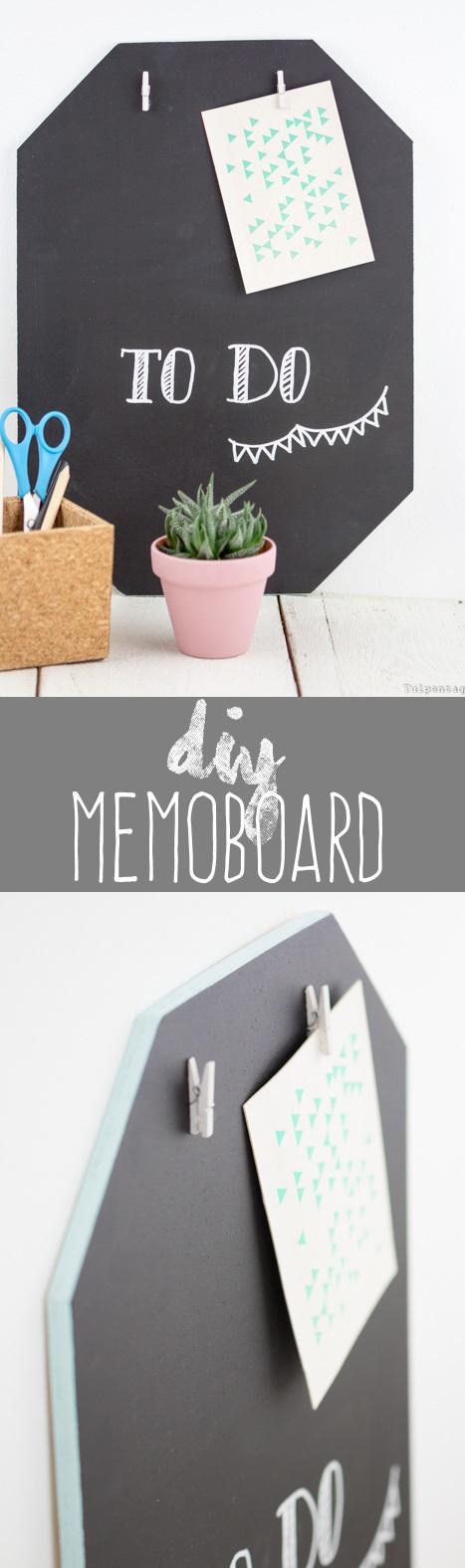 diy memoboard mit tafellack decor deko pinterest. Black Bedroom Furniture Sets. Home Design Ideas