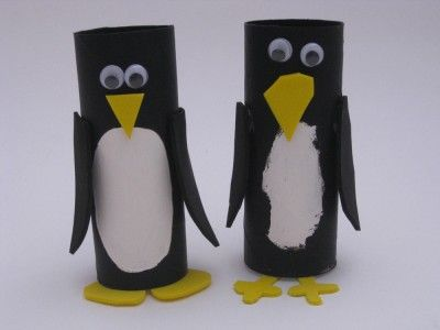 Toilet Paper Roll Penguins Holiday Craft Ideas Pinterest