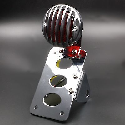 motorcycle-parts: Bobber Vintage Retro SIDE Axle LICENSE PLATE Grille TAIL LIGHT For HARLEY Custom #Motorcycle - Bobber Vintage Retro SIDE Axle LICENSE PLATE Grille TAIL LIGHT For HARLEY Custom...