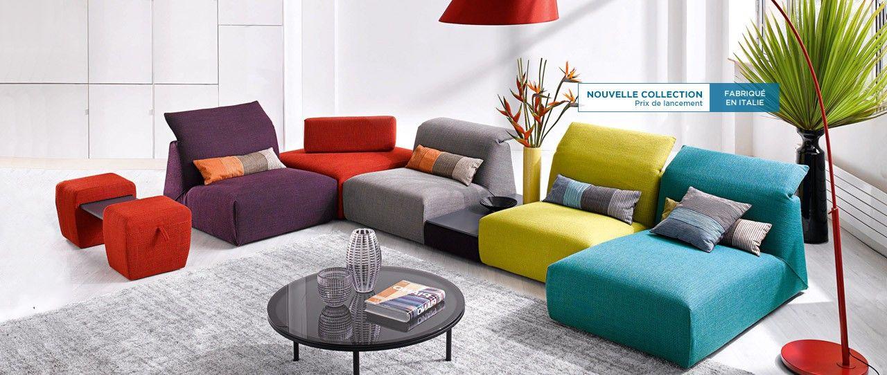 cuir center corfou canap composable en tissu. Black Bedroom Furniture Sets. Home Design Ideas