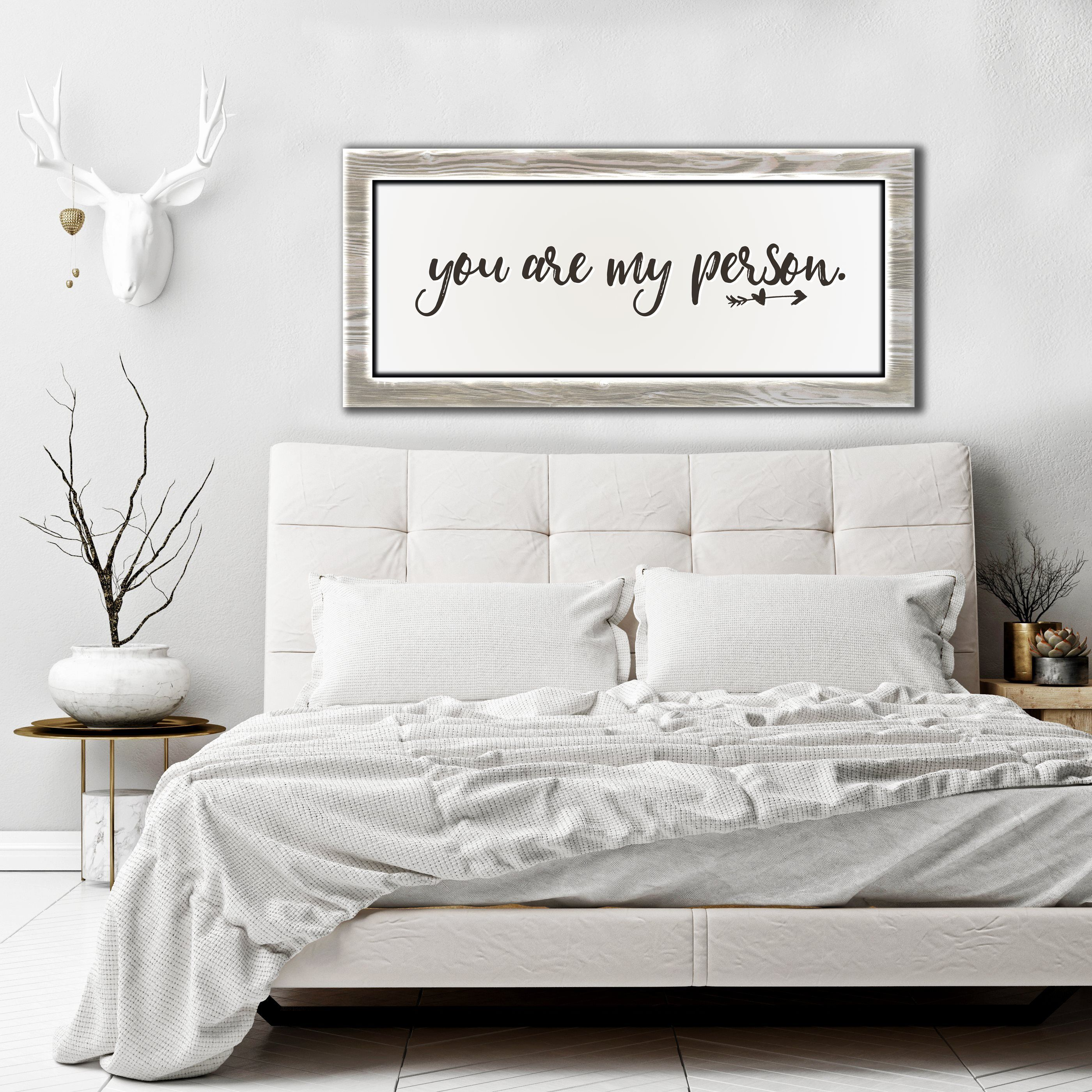 Bedroom Wall Art You Are My Person (Wood Frame Ready To
