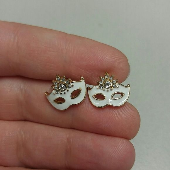 Masquerade Earrings Only worn a few times, I haven't worn in a long time and am trying to downsize my jewelry collection. Offers welcome. Jewelry Earrings