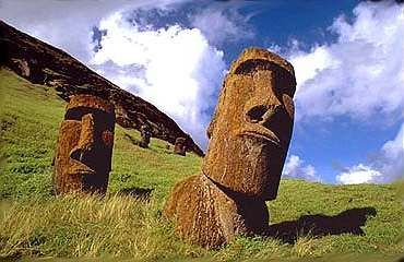 Gum, gum for dum, dum. Easter Island - I recently found out the heads and shoulders are only the beginning. They statues also have bodies and legs buried under 500 years of dirt, dust and rocks! Who knew? Evidently, archeologists. They figured it out back in 1914.