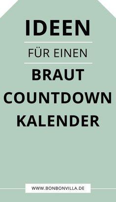 Photo of Basteln Sie den Countdown-Kalender für die Braut selbst – Bonbon Villa