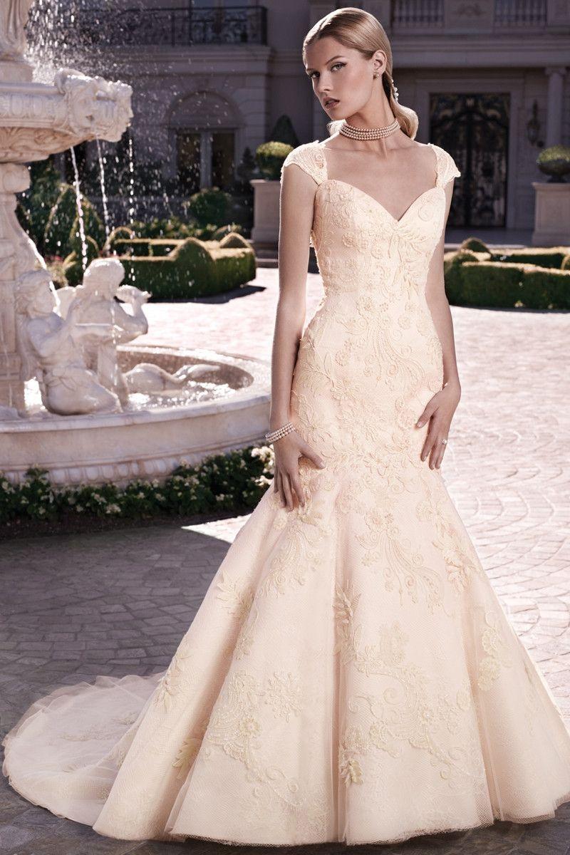 Casablanca bridal wedding dress style mermaid silhouette