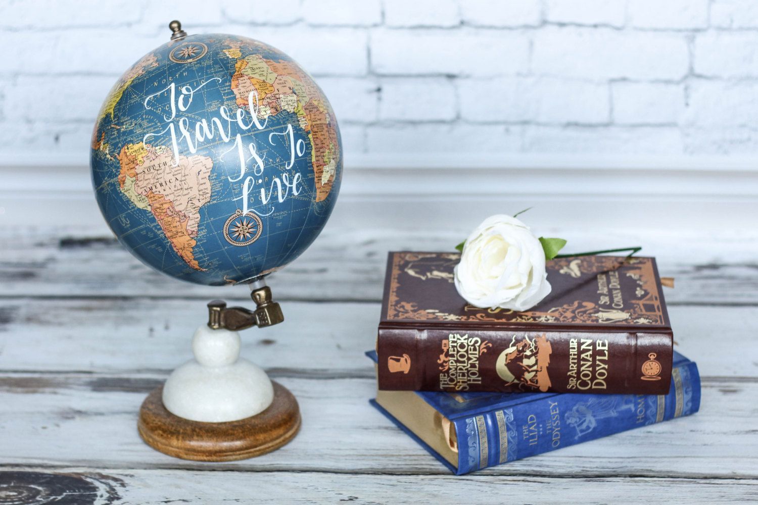 To travel is to live large blue world globe travel quotes to travel is to live large blue world globe travel quotes gumiabroncs Images