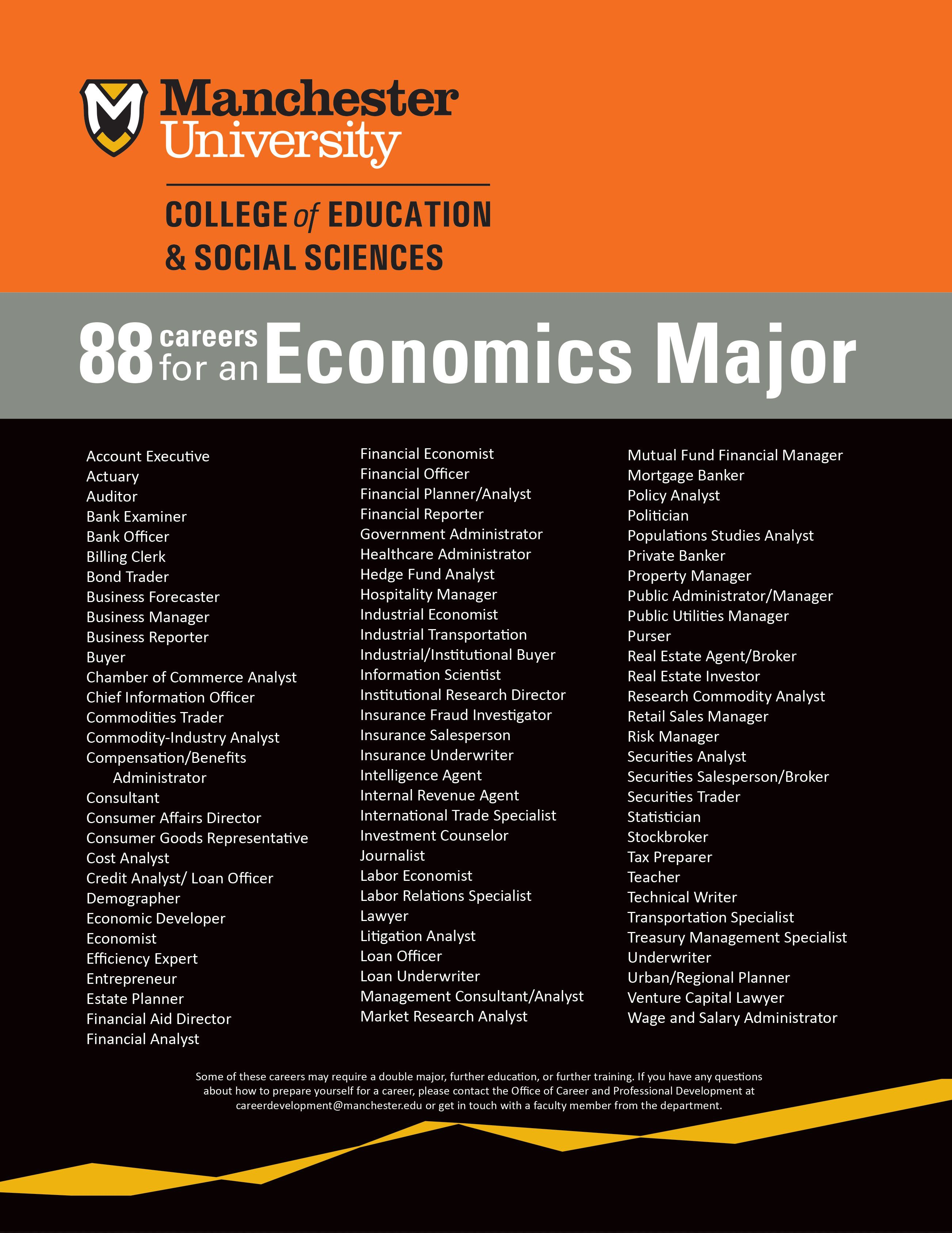 Why should I study economics? 88 potential careers for an Economics ...