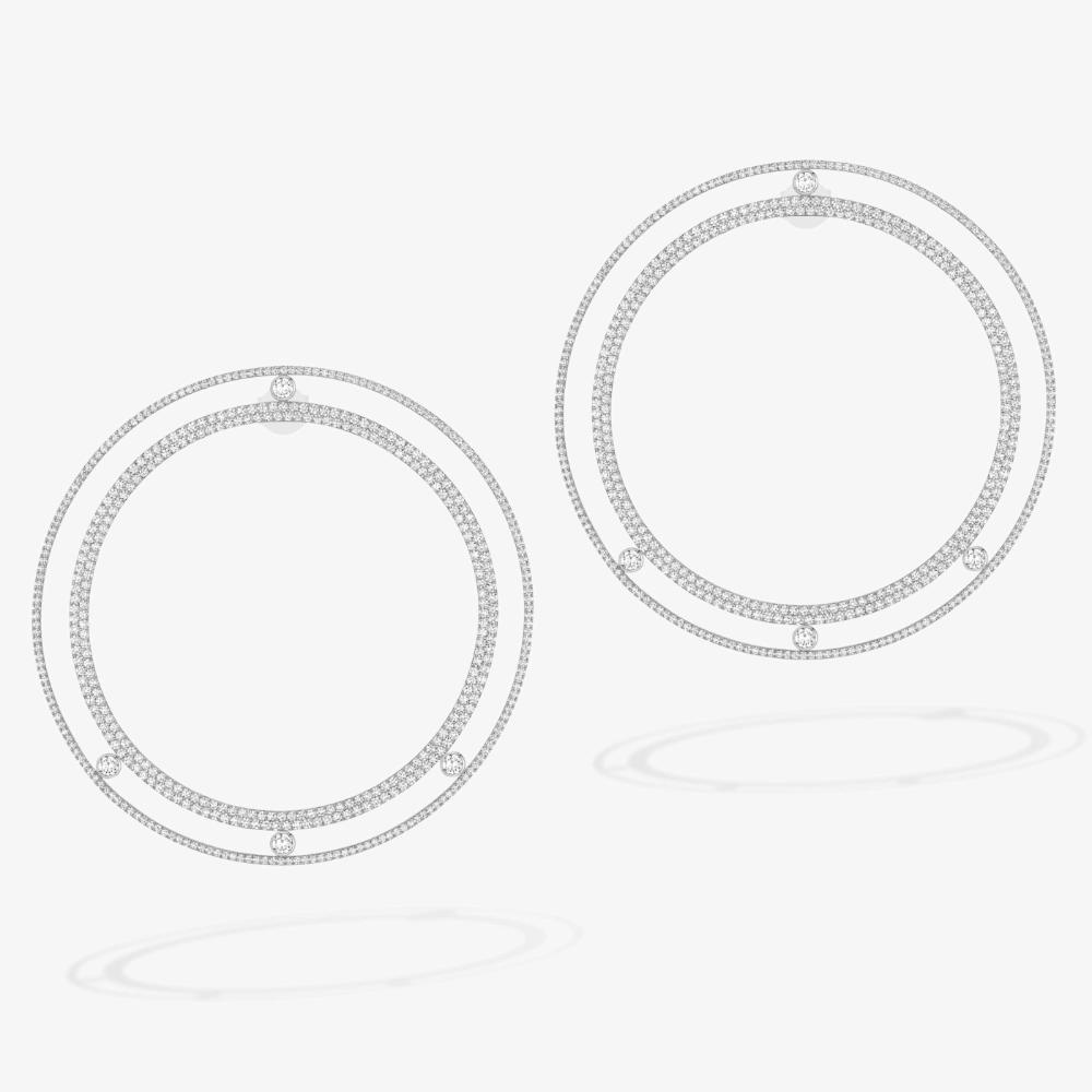 Pendientes De Aro Xxl Con Pavé Move Romane En 2020 Tipos De Joyas Pendientes De Aro Pendientes De Diamantes