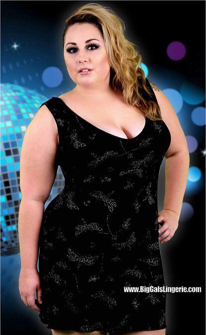 Plus Size Sparkle Slinky Clubwear V Front And Back Sleeveless Mini