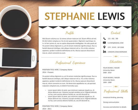 Resume Template Modern Resume Template Word Resume by SuccessTools - modern resume templates word