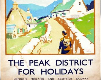 A2  Reprint Vintage LMS Peak District Railway Poster A3
