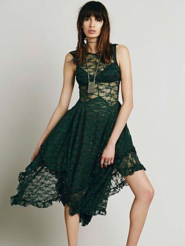 Free-People-French-Courtship-Slip-Dress-in-Evergreen-BNWT-Size-Medium-UK12-14