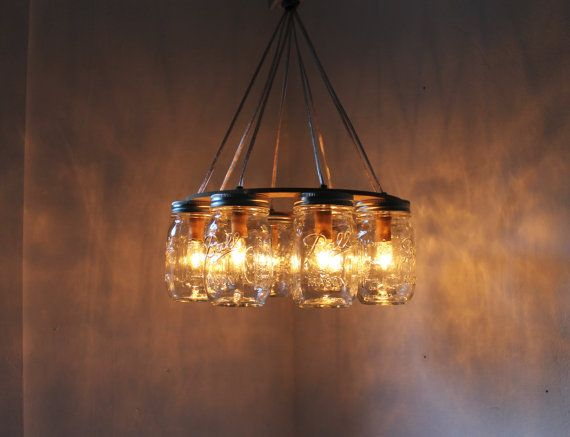 Wagon wheel mason jar chandelier mason jar light industiral swag wagon wheel mason jar chandelier mason jar light industiral swag handcrafted upcycled bootsngus aloadofball Gallery