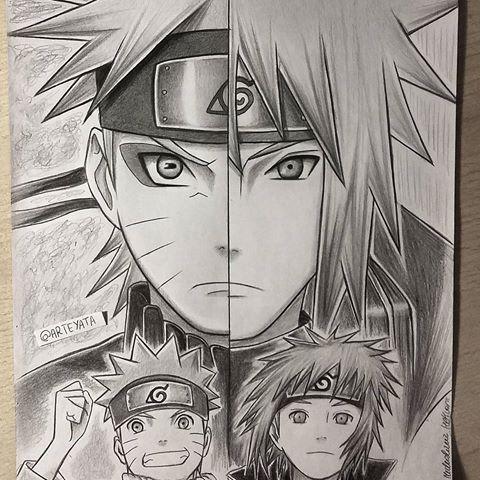Naruto Minato All Done In Pencil Hope You Like It Naruto