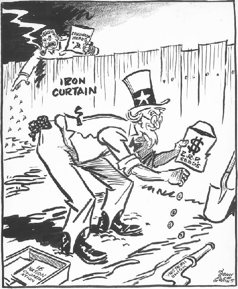 about 1948 historical cartoons cold war history american story  about 1948 politics political beliefs epoch cold war soviet union political