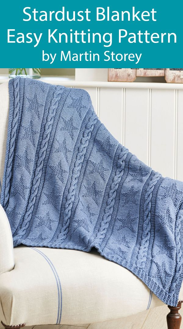 Photo of Knitting Pattern for Easy Star Baby Blanket Stardust Throw by Martin Storey