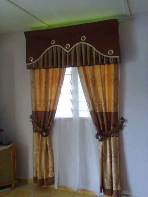 Langsir La Farra Tailor Jenis Tingkap Pleat Home Curtains