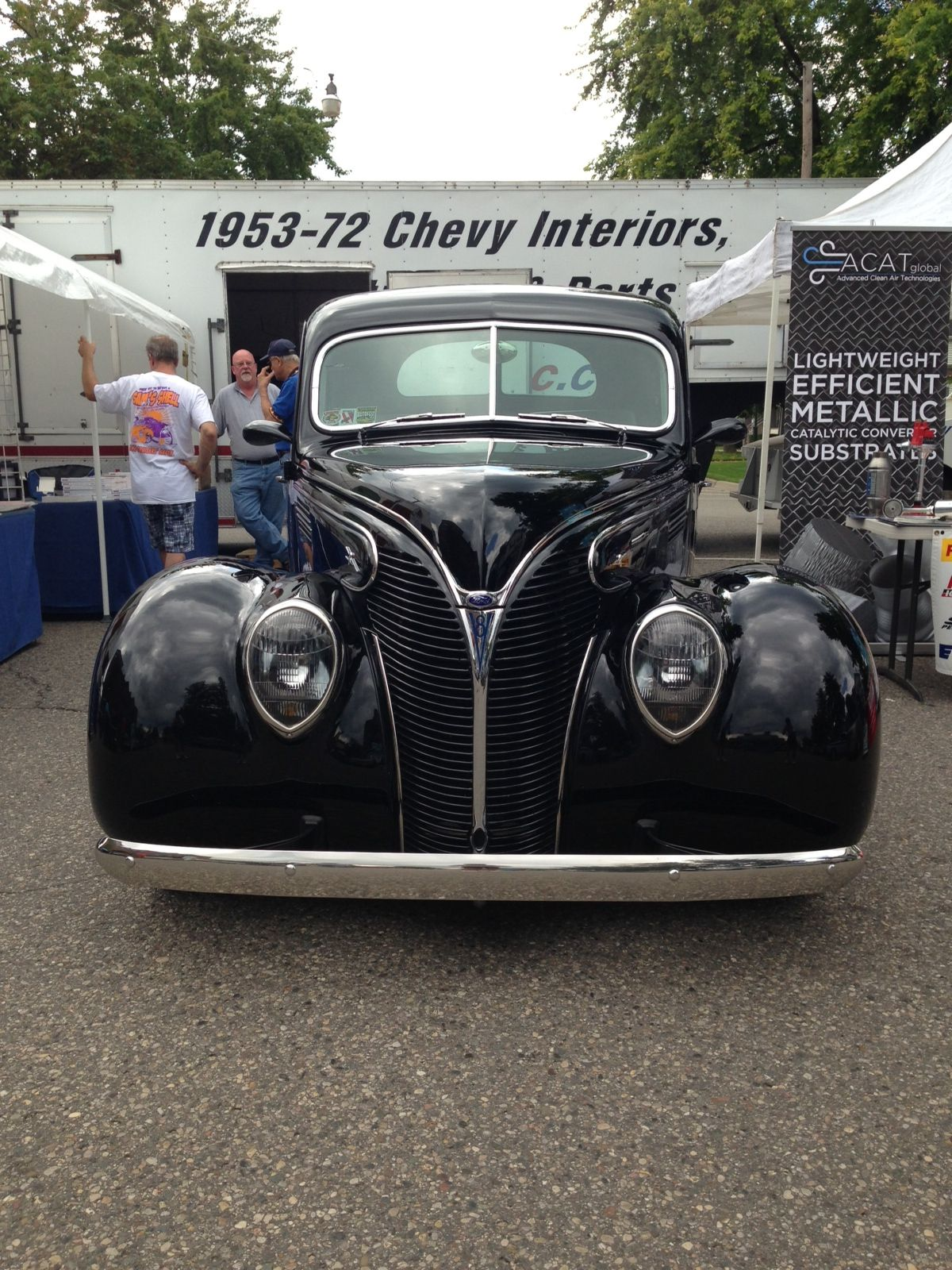 Ford Deluxe At The Rochester Classic Car Show Michigan - Rochester car show