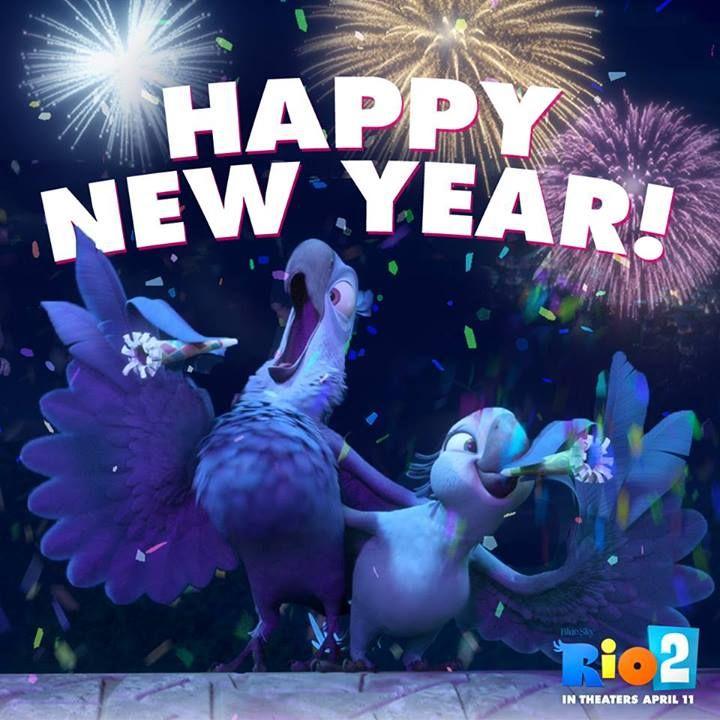 Rio 2 Blu And Jewel Happy New Year 2014 Jpg Happy New Year 2014 New Year 2014 Happy New