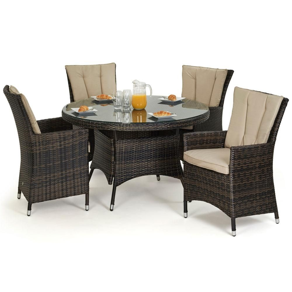 Rattan Garden Furniture 4 Seater maze rattan la 4 seat round rattan garden furniture set | rattan