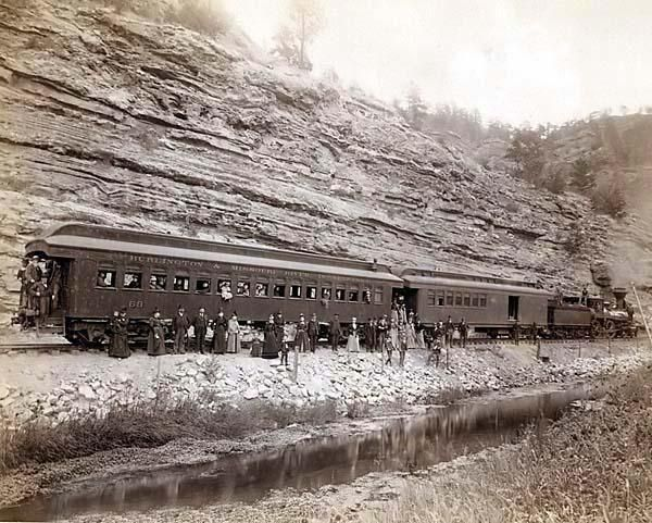 Passenger Train in the Old West