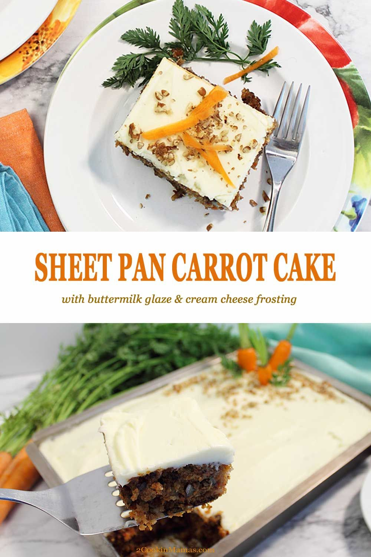 Sheet Pan Carrot Cake With Buttermilk Glaze Recipe Yummy Food Dessert Dessert Recipes Best Dessert Recipes