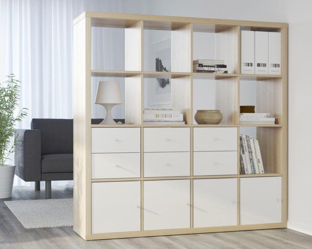 Regal Ikea Kallax: verschiedene Ideen, wie man es benutzt