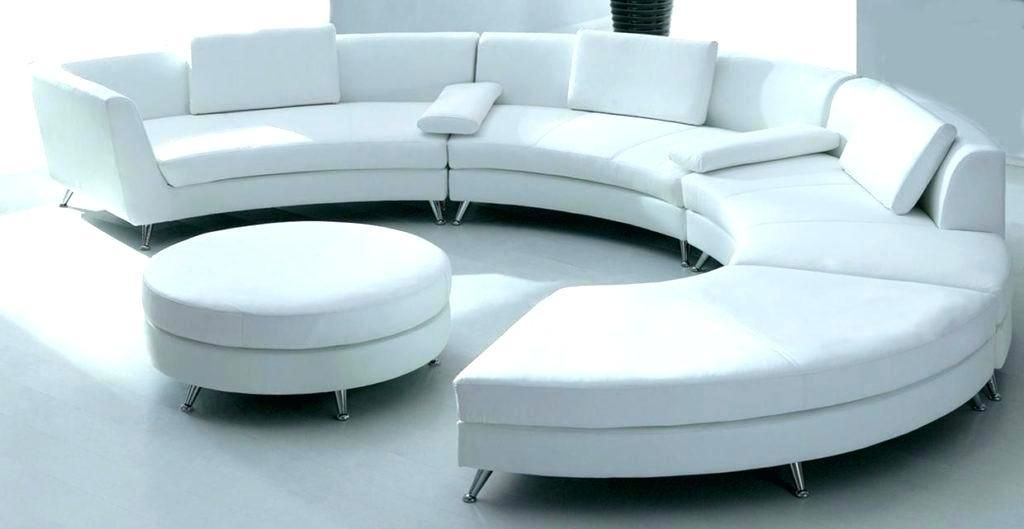 Circular Couches And Loveseats Ealworks Org Stunning Curved Couch Circular Couch White Leather Sofas Round Sofa