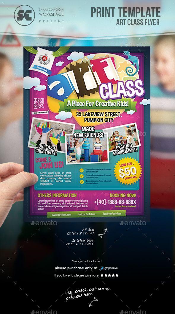 Art Class Flyer Flyer Template Template And Logos