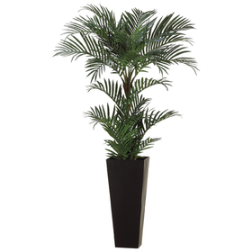 6 Areca Silk Palm Tree W Tall Container Areca Palm Artificial Trees Decor Palm Trees