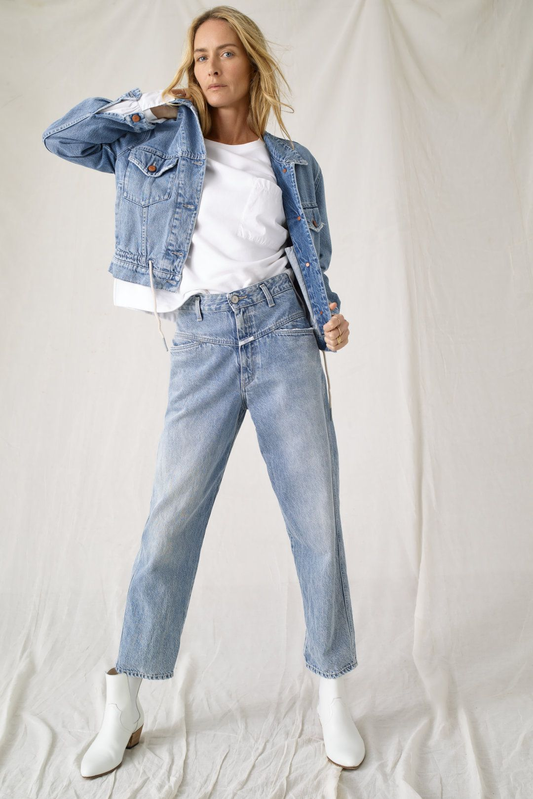 The Original X Pocket Closed Cropped Jeans Outfit Denim Outfit Denim Women