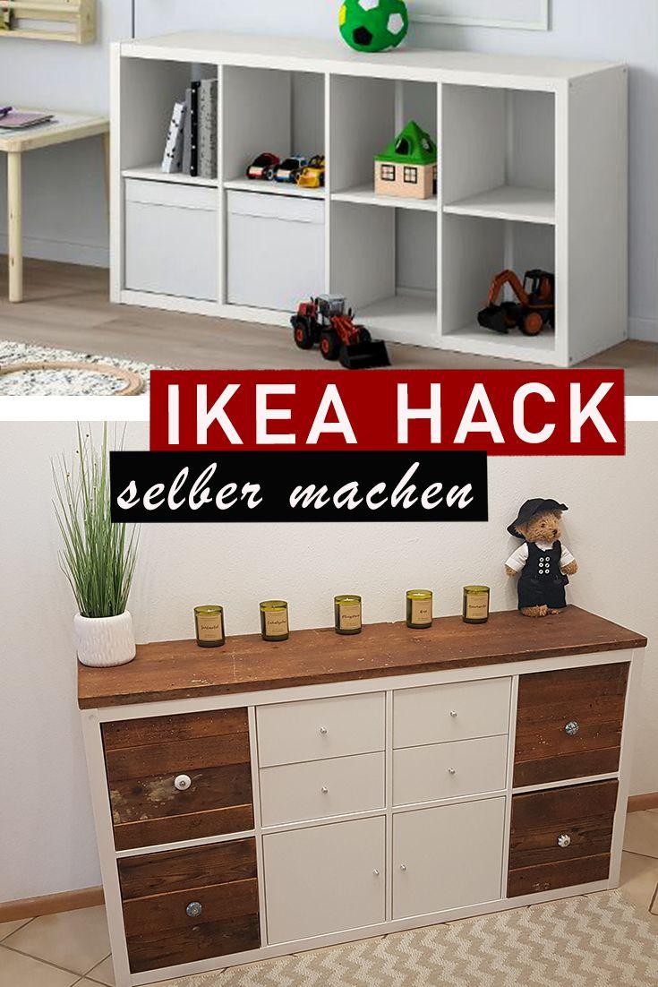 IKEA KALLAX REGAL HACK   Upcyling mit Altholz