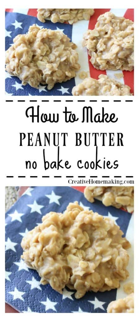 Peanut Butter No-Bake Cookies #quickcookierecipes