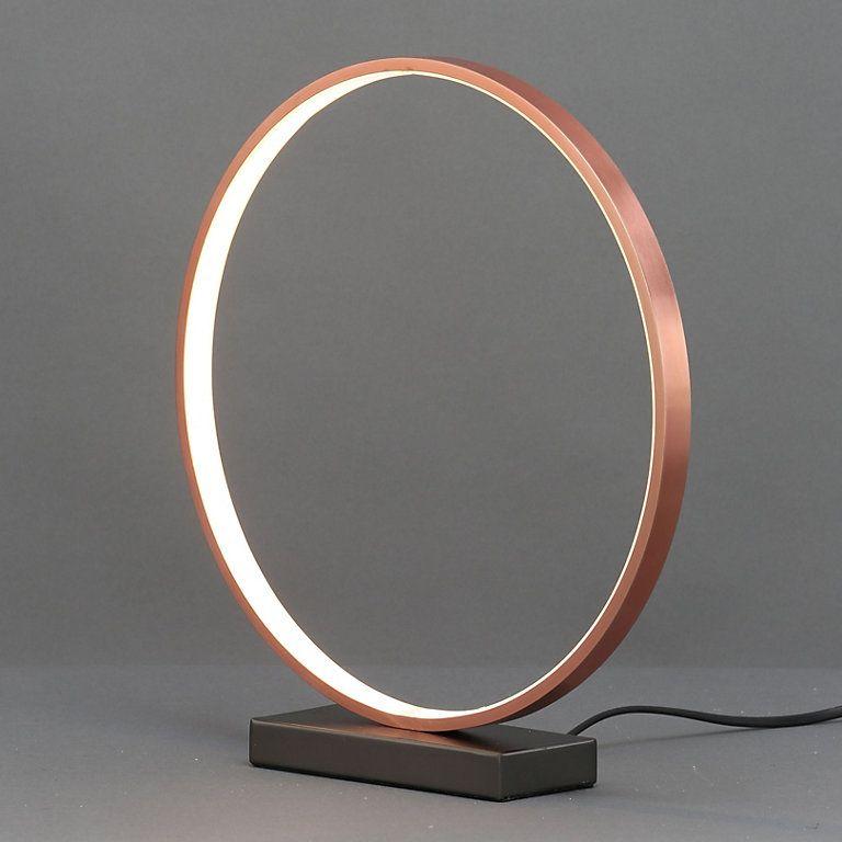 Lyssa Ring Copper effect Table lamp | DIY at B&Q | Diy table