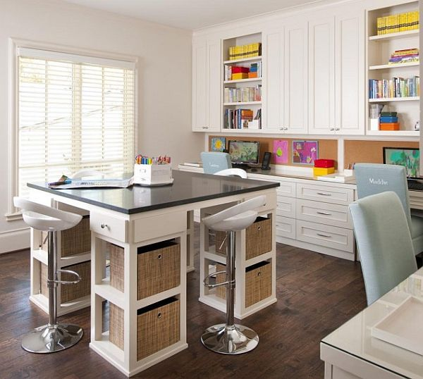charming white themed kids study area with unique study desk and rh pinterest com