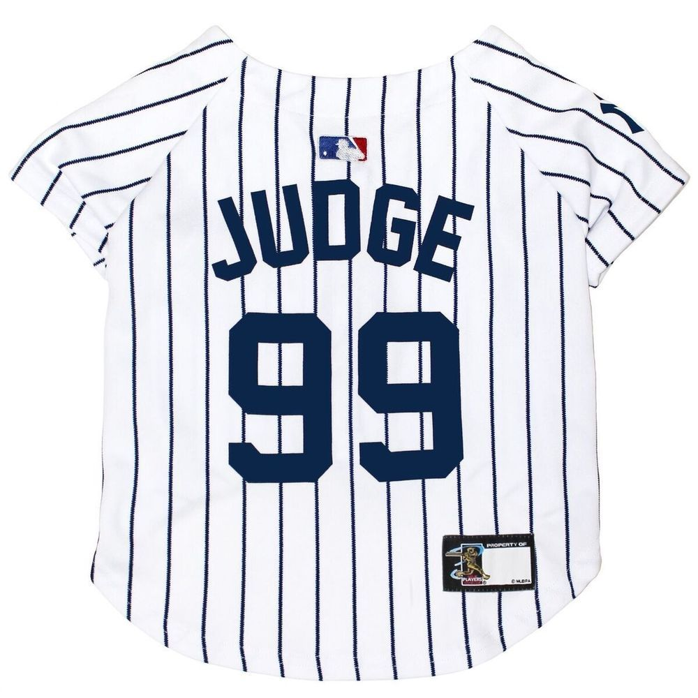 size 40 6fa7c c61a2 Aaron Judge Dog Jersey #99 New York Yankees MLBPA Pet ...
