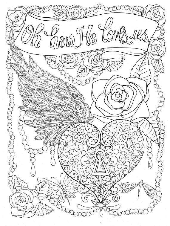 Christian Worship Coloring Page Instant Download Church Bible God