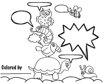 Say What? Animal Coloring & Conversations (6 pages), Art